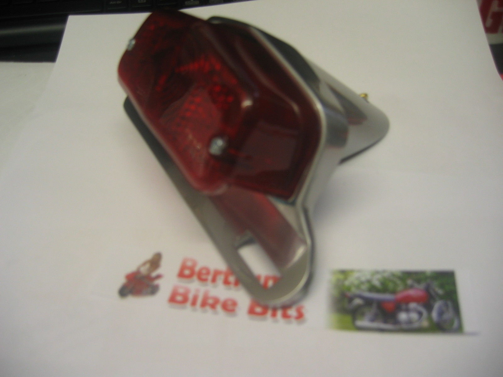 Complete Taillight Lucas Style With Polished Aluminium Bracket BSA Triumph
